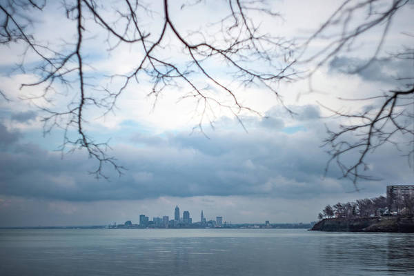 Cleveland Skyline With A Vintage Lens Poster
