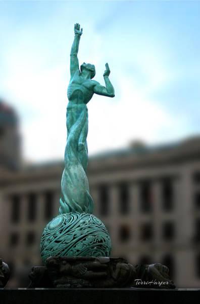 Cleveland War Memorial Fountain Poster