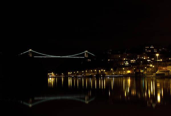 Clifton Suspension Bridge At Night Poster