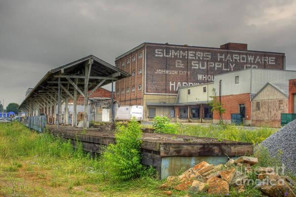 Clinchfield Train Station Platform Poster