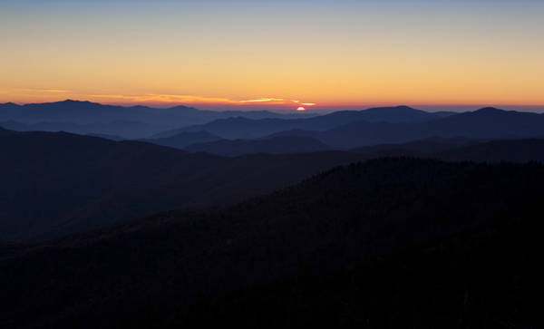 Clingmans Dome Sunset Poster