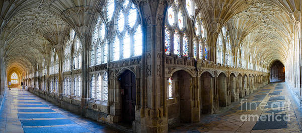 Cloisters, Gloucester Cathedral Poster