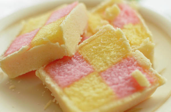 Close Up Of Battenberg Cake E Poster