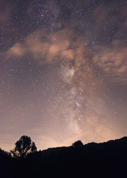 Clouds And Milky Way Poster
