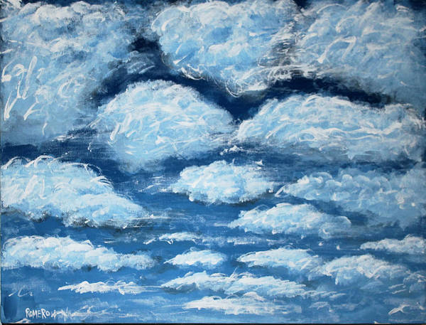 Poster featuring the painting Clouds by Antonio Romero