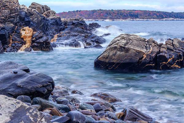 Coast Of Maine In Autumn Poster