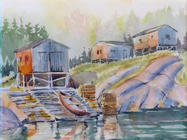 Coastal Village - Newfoundland Poster