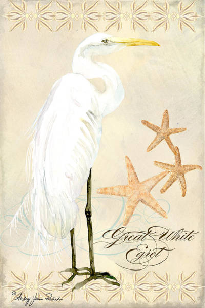 Coastal Waterways - Great White Egret Poster