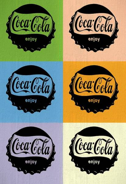 Coca Cola Bottle Cap Pop Art Poster