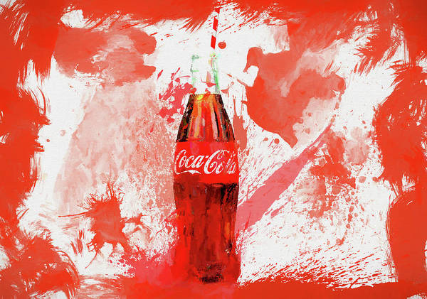 Coca Cola Bottle Splatter Poster