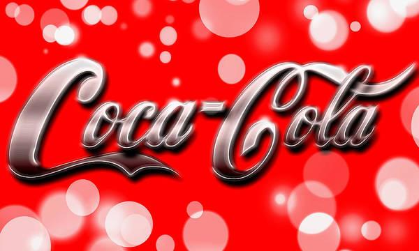 Coca Cola Electric Bokeh Poster