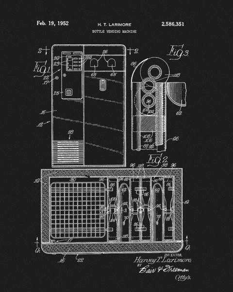 Coca Cola Vending Machine Patent Poster