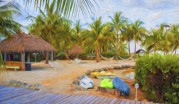 Coconut Palms Inn Beach Poster