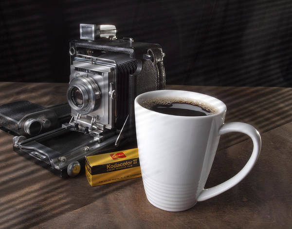 Coffe Cup And Camera Poster