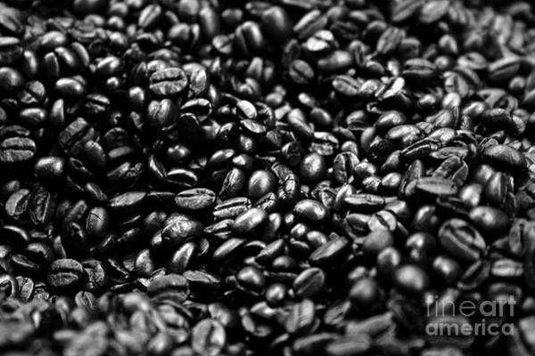 Coffee Beans Bw Poster