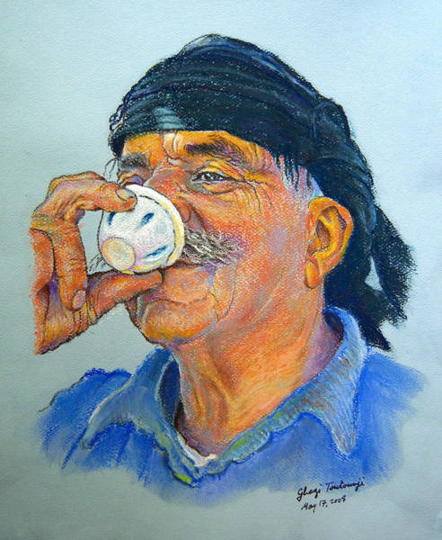 Coffee Drinking Poster