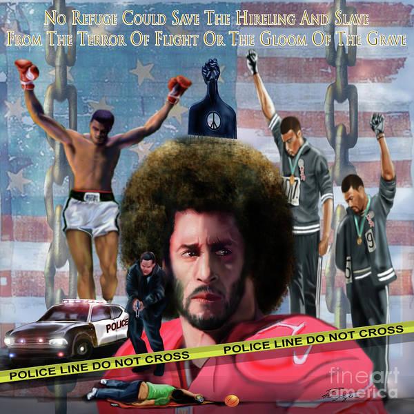 Colin Kaepernick Amongst The Brave Few 2a Poster