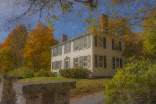 Colonial House On Main Street, Easton Poster