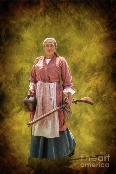Colonial Woman With Rifle Poster