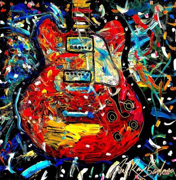 Color Wheel Guitar Poster