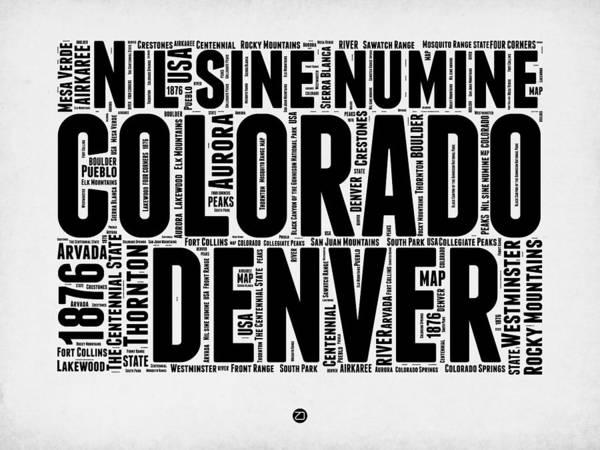 Colorado Word Cloud Map 2 Poster