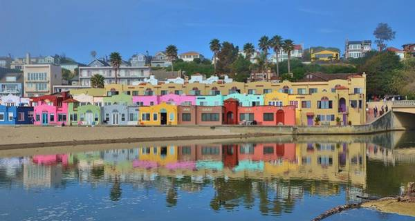 Colorful Capitola Venetian Hotel Poster