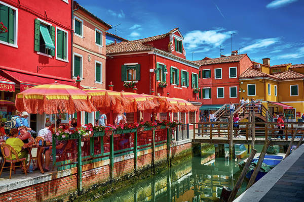 Colorful Day In Burano Poster