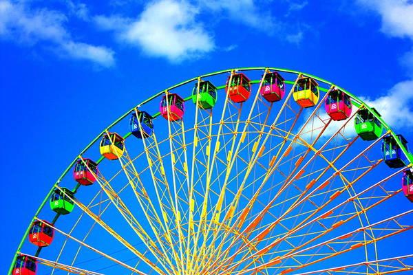 Colorful Ferris Wheel Poster