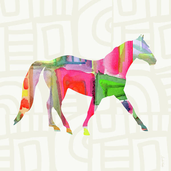Colorful Horse 1- Art By Linda Woods Poster