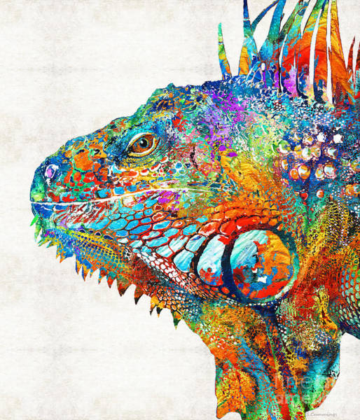 Colorful Iguana Art - One Cool Dude - Sharon Cummings Poster