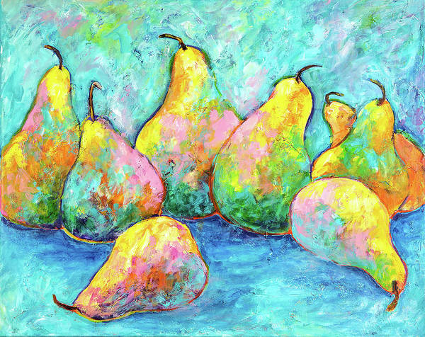 Colorful Pears Poster