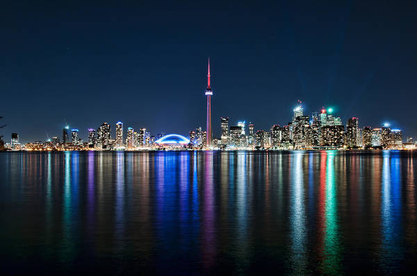 Colorful Reflections Of Toronto Poster