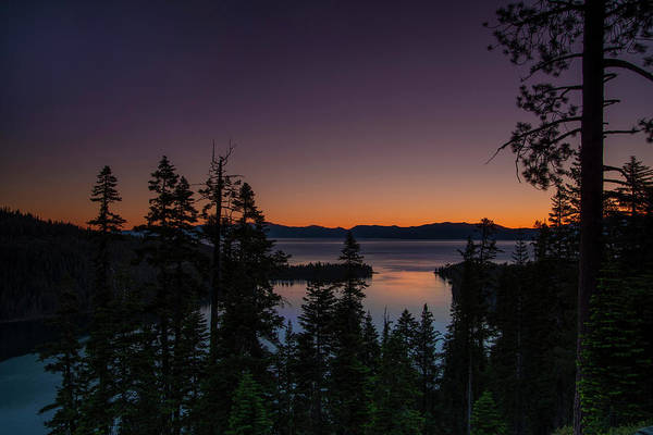 Colorful Sunrise In Emerald Bay Poster