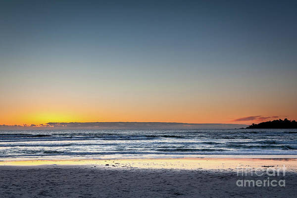 Colorful Sunset Over A Desserted Beach Poster