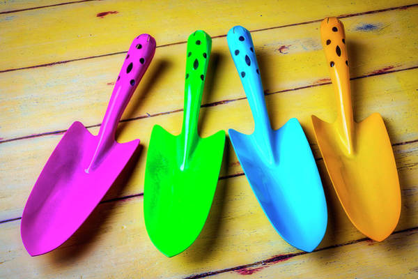 Colorful Trowels Poster