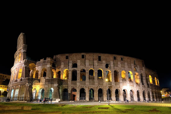 Poster featuring the photograph Colosseum by Nikos Stavrakas