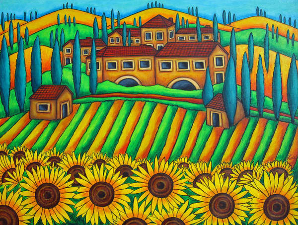 Colours Of Tuscany Poster