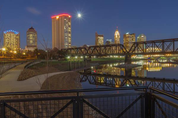Columbus Ohio Nightscape Poster