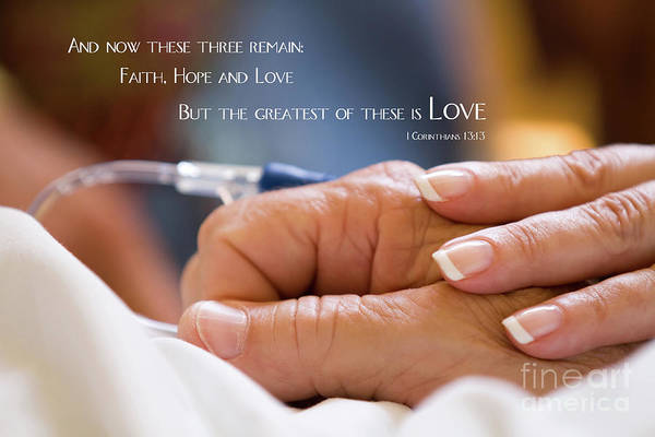 Comforting Hand Of Love Poster