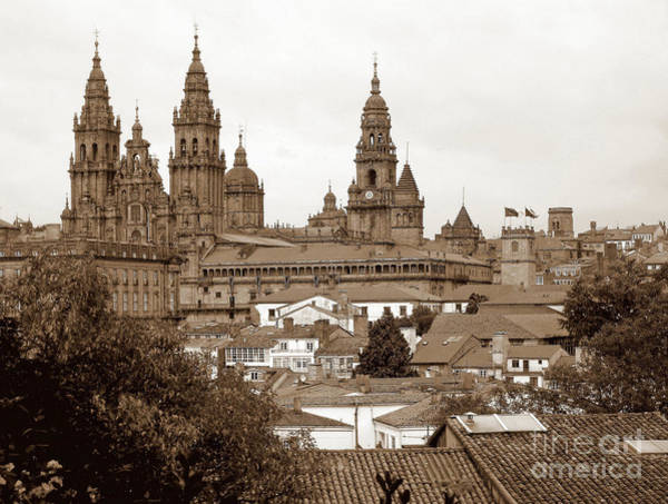 Compostela Roofs In Sepia Poster