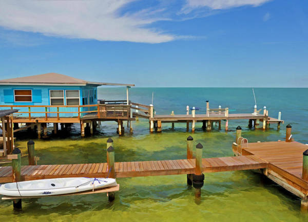 Conch Key Blue Cottage 3 Poster