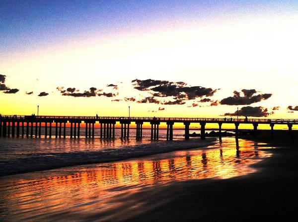Coney Island Pier Sunset Poster