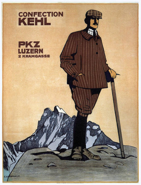 Confection Kehl - Men's Clothing - Vintage Advertising Poster Poster