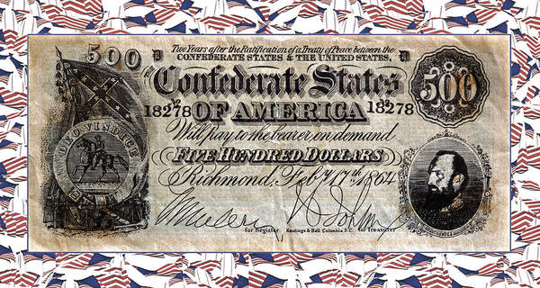 Confederate Money Poster