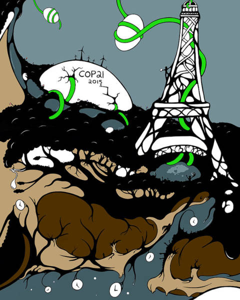 Poster featuring the digital art Cop21 by Craig Tilley