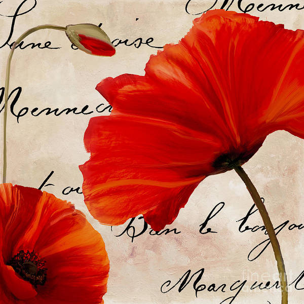 Coquelicots Rouge II Poster