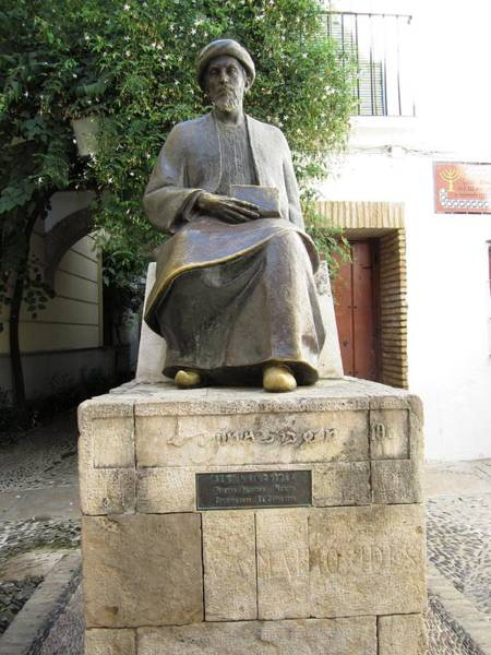 Cordoba Maimonides Statue Or Moses Ben Maimon Aka Rambam Jewish Quarter Viii Spain Poster