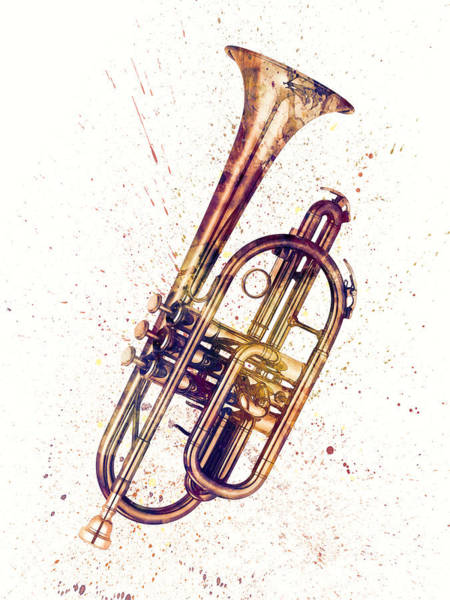 Cornet Abstract Watercolor Poster