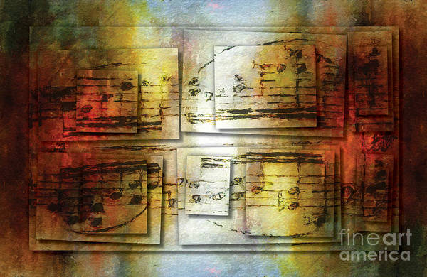 Poster featuring the digital art Corroded Cadence 2 by Lon Chaffin