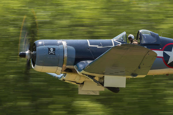 Corsair Close-up On Takeoff Poster